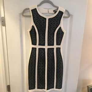 Ark & Co. black and white lace dress